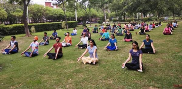 Fourth International Yoga Day celebrations at Guru Angad Dev Veterinary and Animal Sciences University, Ludhiana (21.06.2018)