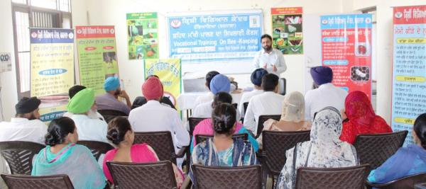 Skill development training on Bee-Keeping at Krishi Vigyan Kendra, Barnala  of Guru Angad Dev Veterinary and Animal Sciences University Ludhiana (30.05.2018)