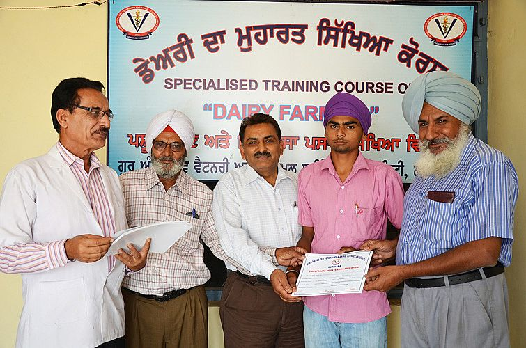 Training on Dairy Farming