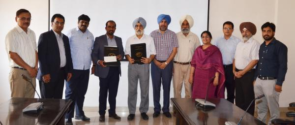 MOU was signed between Guru Angad Dev Veterinary and Animal Sciences University (GADVASU), Ludhiana and M/s Neway Renewable Energy (Bathinda) Pvt. Ltd (NREBPL), a sub group of Alkindi Group Company, Doha Qatar to convert paddy straw into enriched fodder