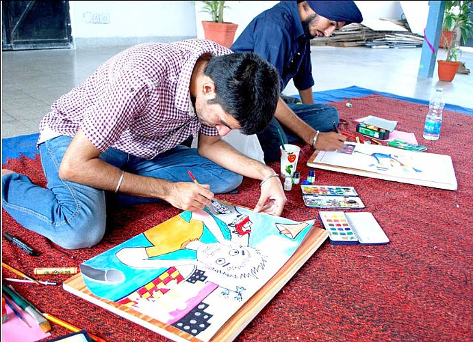 Painting competition in Youth Festival 2012