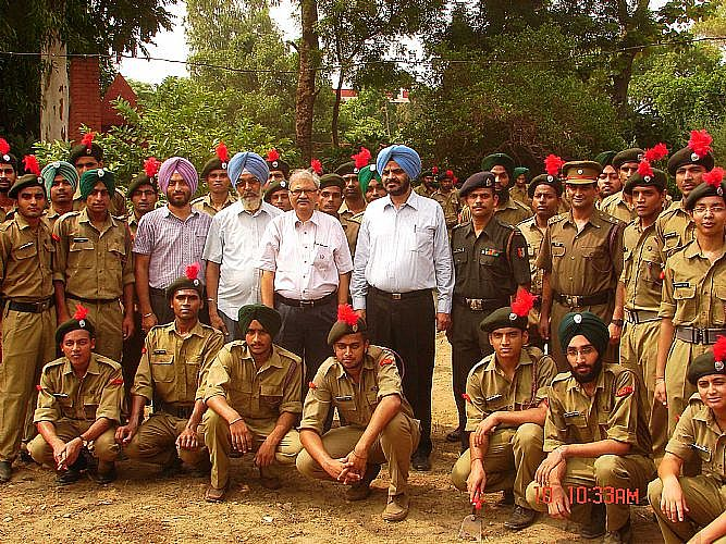 NCC Cadets particpate in making this earth green