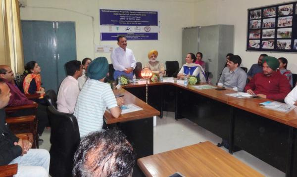 Dr. H. K. Verma addressed the  Trainees on Training programme Disease Surveillance in Aquaculture