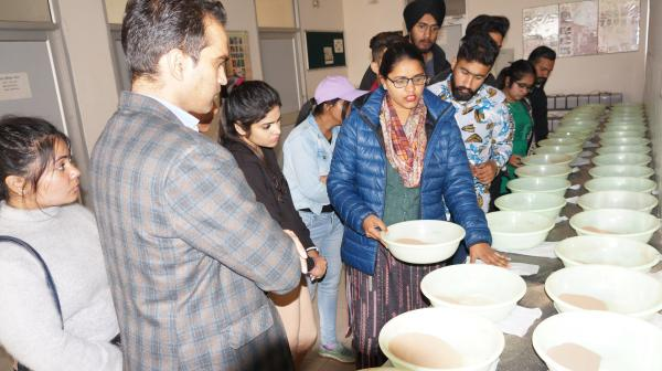 Trainees visit the Soil Science,PAU during Skill Development Training Programme conducted by KVK, Tarn Taran on 9th March,2020