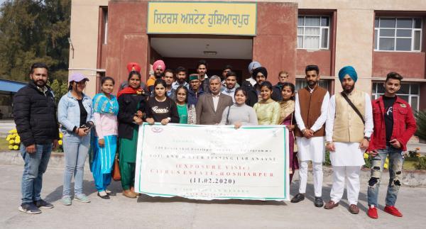 Trainees visit the Citrus Estate,Hoshiarpur during Skill Development Training Programme conducted by KVK, Tarn Taran on 9th March,2020