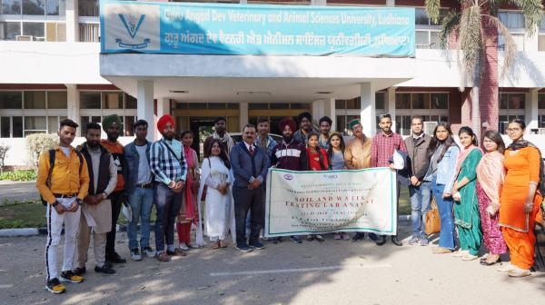 Trainees visit the University Campus during Skill Development Training Programme conducted by KVK, Tarn Taran on 9th March,2020