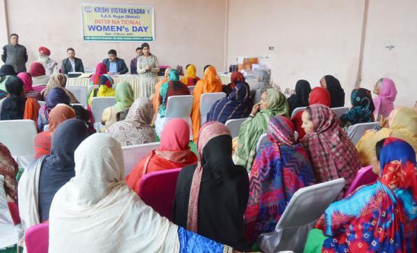 KVK, Mohali celebrates International Women's Day at village Khizrabad on 8th March,2020