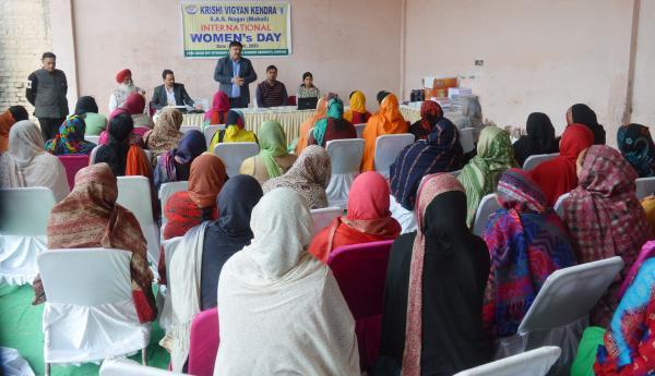 KVK, Mohali celebrates International Women's Day at village Khizrabad on 8th March, 2020
