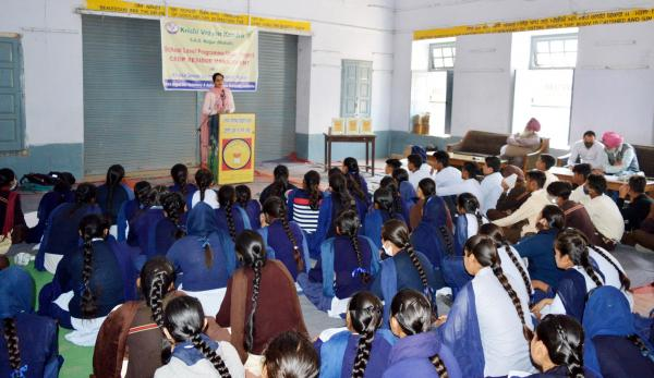 KVK, S.A.S. Nagar (Mohali) conducted school level programme under CRM project on 4th March,2021