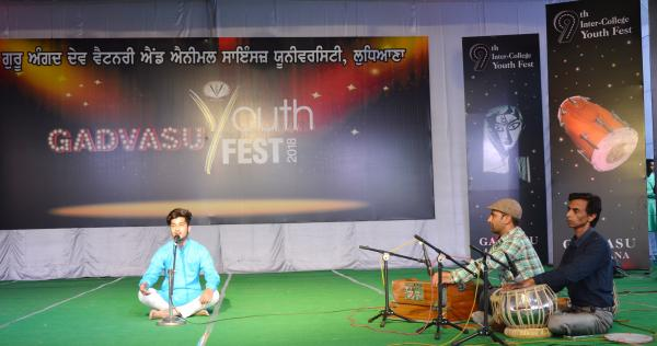 Solo Song peformance by students in 9th Youth festival on 13-11-2018