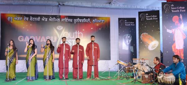 Group Song peformance by students in 9th Youth festival on 13-11-2018