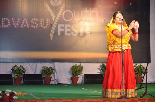 Theatre peformance by students in 9th Youth festival on 15-11-2018