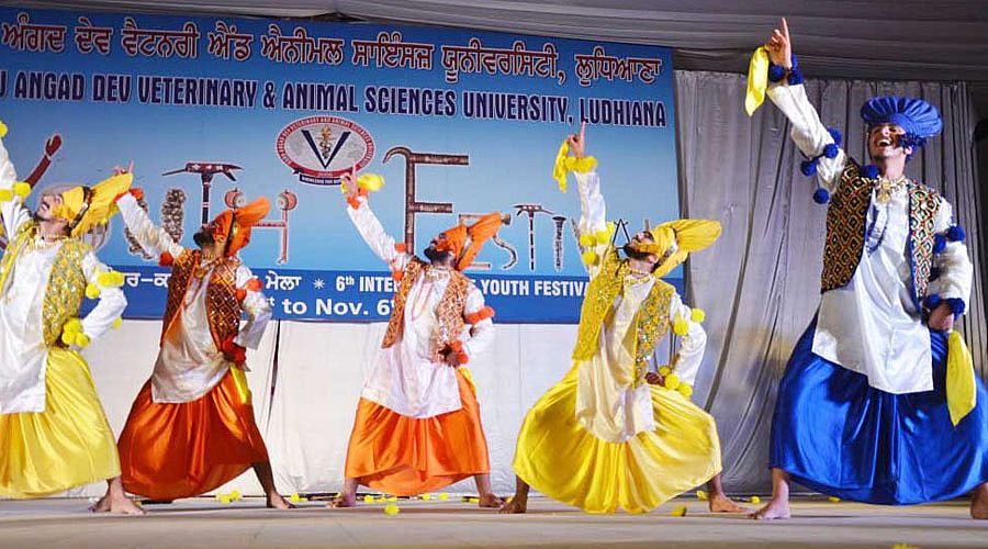 Bhangra perfomed by students in 6th Inter College