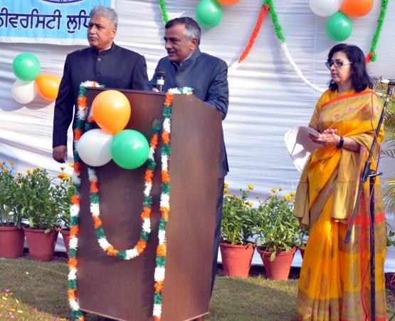 Dr. Inderjeet Singh, Vice Chancellor highlighted the importance and spirit of the Indian Constitution on Celebration of Republic Day on 26-1-2021