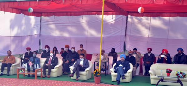 Staff participate in the  Celebration of Republic Day on 26-1-2021