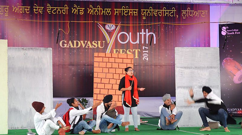 On the 6th Day of Youth Festival the Theatre event