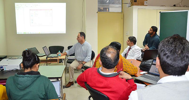 Prof. Michael Ward, University of Sydney, Australia trained GADVASU staff and students in International Workshop on GIS Mapping