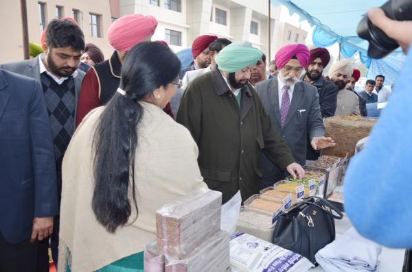 Capt. Amrinder Singh, Honble Chief Minister, Punjab interacting with Head, Department of Animal Nutrition(15.01.2019)