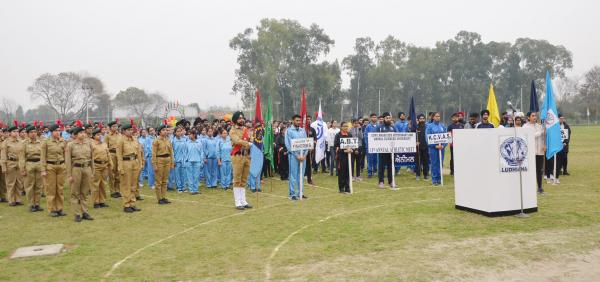March Pass in 13th Annual Athletic meet was held at GADVASU on 13th March 2019