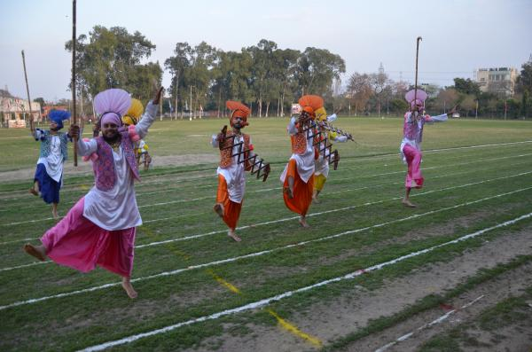 Student Perform Bhangra in 13th Annual Athletic meet