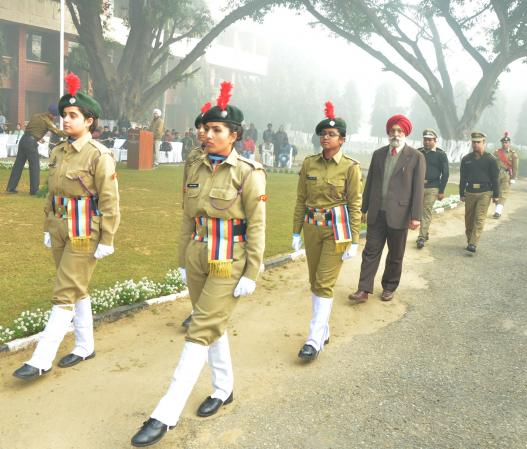 Dr. A. S. Nanda, Vice Chancellor received the guard of Honour from R&V Sqn. NCC cadets of GADVASU on Celebration of Republic Day on 26-1-2020
