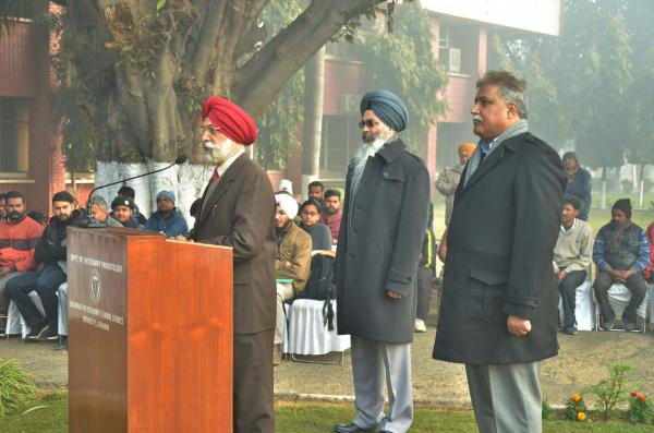 Dr. A. S. Nanda, Vice Chancellor highlighted the importance and spirit of the Indian Constitution on Celebration of Republic Day on 26-1-2020