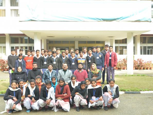 School student visit the University Campus on Education Tour on 02-02-2020