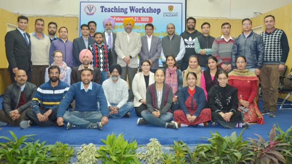 Teaching Workshop for Mid -Career Teachers was organized by COVS with Collaboration of University of Calgary, Canada on dated 24-02-2020