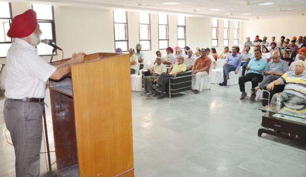 Dr A S Nanda, Vice Chancellor of Guru Angad Dev Veterinary and Animal Sciences University expressed their views at the Teachers Day celebrations