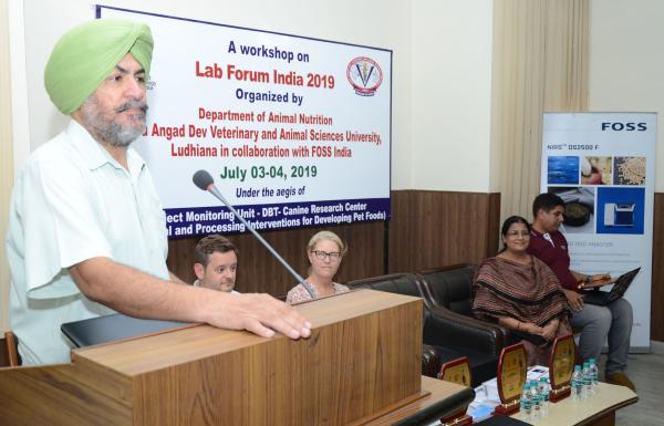 Dr. J. P. S. Gill, Director of Research given the lecture in workshop on focusing feed quality parameters at Vet Varsity