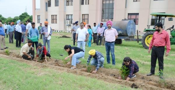 Vet Varsity staff and students dedicates Plantation Drive to Guru Nanak Sahib anniversary