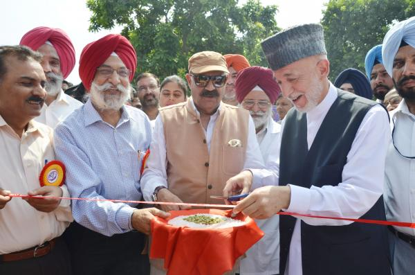 Sh.V.P.Singh Badnore, Governor of Punjab and Janab Hamid Karzai, former president of Afghanistan inaugurated the  25th Silver Jubilee Pashu Palan Mela