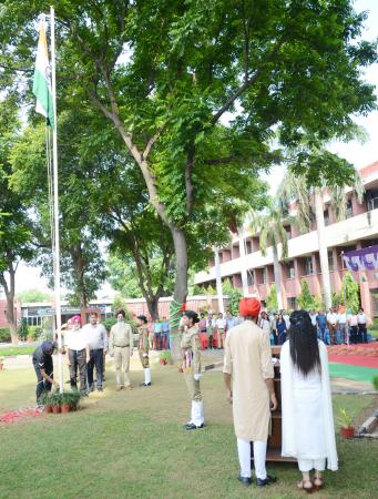 Dr. AS Nanda, Vice–Chancellor, GADVASU unfurled the National Flag in the University premises on 73rd Independence Day on 15th August 2019