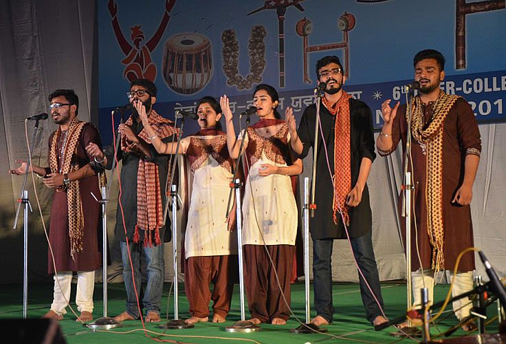 Group song event in 6th Inter College Youth Festiv