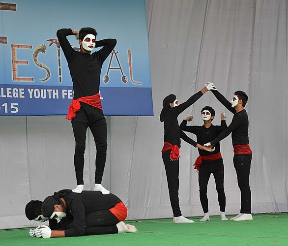Mime event in 6th Inter College Youth Festival 201