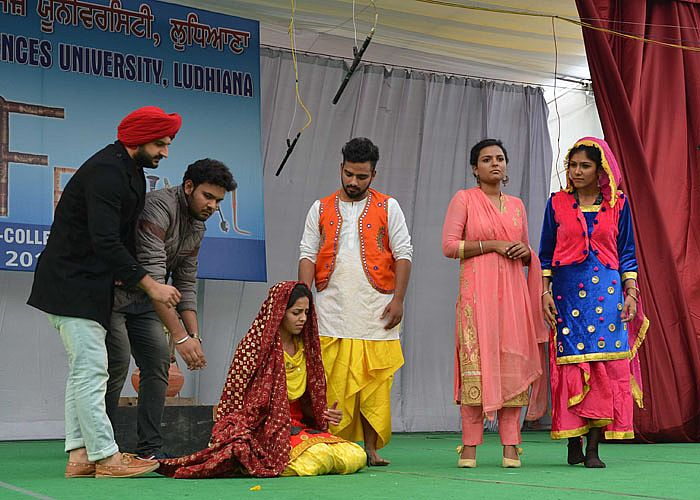 Theatre event in 6th Inter College Youth Festival