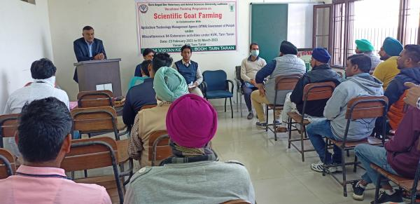 Dr. Inderjeet Singh, Vice Chancellor, GADVASU expressed their views for Goat farming on 1st March,2021