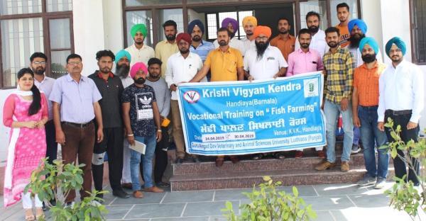 Krishi Vigyan Kendra, Barnala organized vocational training on Fish Farming