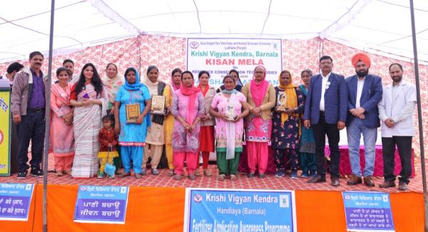 Prizes was awarded to the Participants in Kisan Mela organized by KVK, Barnala on 02-03-2020