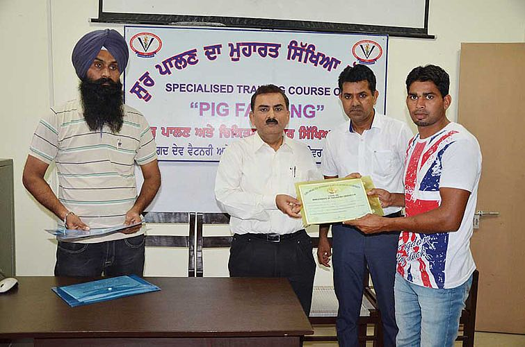 Pig farming training for the farmers was conclude