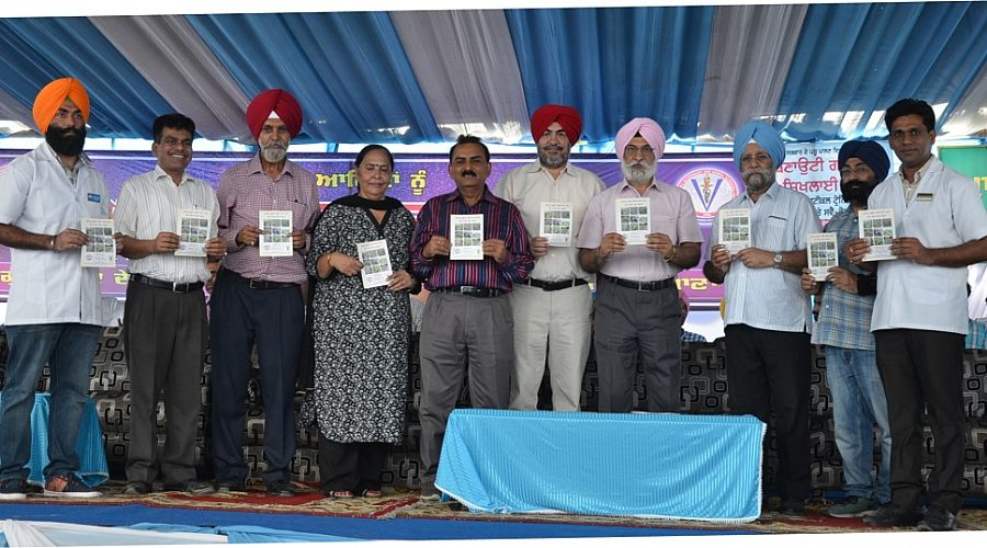 Dr. A. S. Nanda, Vice Chancellor, GADVASU and other officials released the book on 23rd Sept.,2017