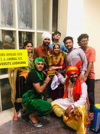 Guru Angad Dev Veterinary and Animal Sciences University (GADVASU) grabbed first position in Punjab State Inter College Cultural Procession Competition organized by Punjab Art Council, Chandigarh