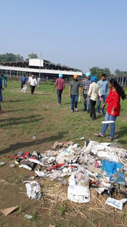Cleanliness drive by NSS volunteers of GADVASU on the occasion of birth anniversary of Mahatma Gandhi