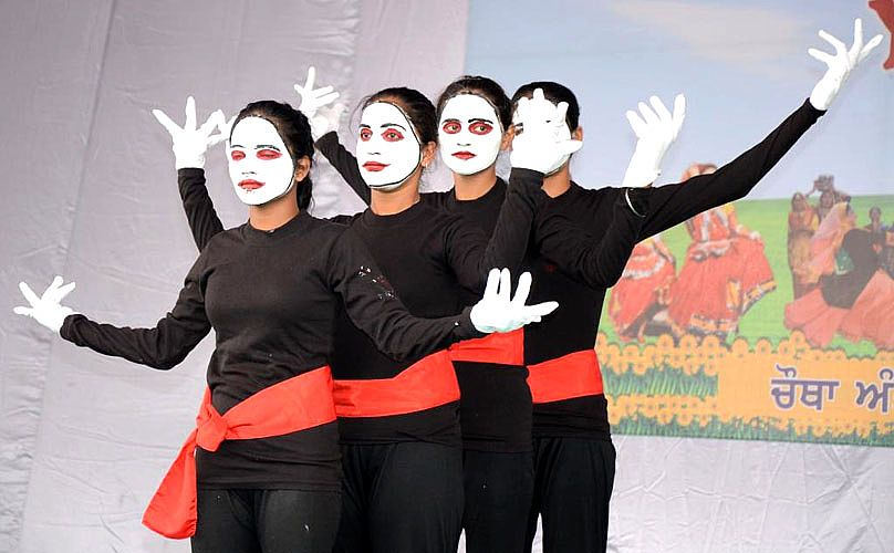 Mime event in Youth Festival 2013