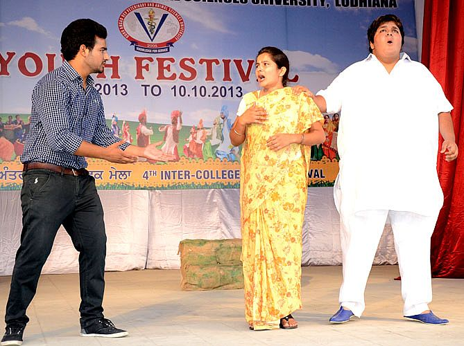 Theatre event in youth festival 2013