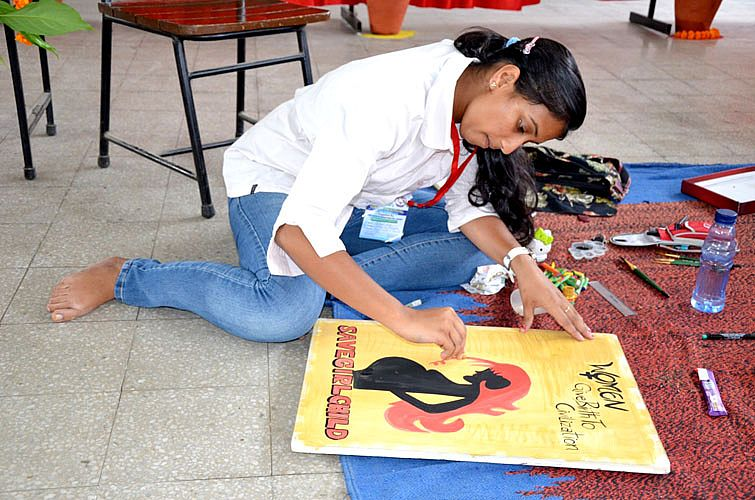 Poster competition in Youth Festival 2013